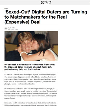 sexed out digital daters turning to matchmakers