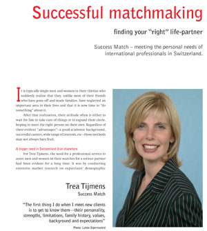 the art of Successful Matchmaking for international professionals in Europe